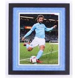 Andrea Pirlo Sigend New York City FC 18.25x21.25 Custom Framed Photo Display (Icons COA)