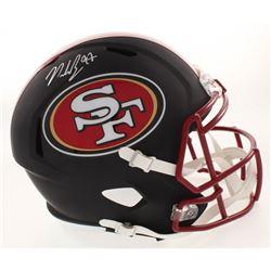 Nick Bosa Signed San Francisco 49ers Full-Size Matte Black Speed Helmet (Beckett COA)