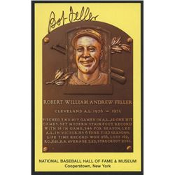Bob Feller Signed Indians Hall of Fame Postcard (Slaughter Collection LOP)