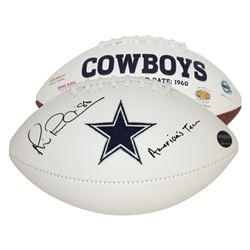 "Michael Irvin Signed Dallas Cowboys Logo Football Inscribed ""America's Team"" (Prova Hologram)"