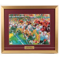 "Joe Montana Signed ""LeRoy Neiman: Super Bowl XVI"" 19x23 Custom Framed Print Display (JSA COA)"