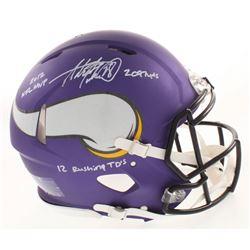 Adrian Peterson Signed Minnesota Vikings Matte Purple Full-Size Authentic On-Field Speed Helmet Insc