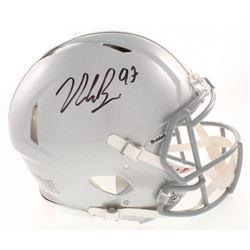 Nick Bosa Signed Ohio State Buckeyes Full-Size Authentic On-Field Speed Helmet (Beckett COA)