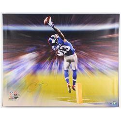 Odell Beckham Jr. Signed LE New York Giants 24x30 Photo on Canvas (Steiner COA)