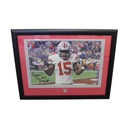 Ezekiel Elliot Signed Ohio State Buckeyes 14x24 Custom Framed Photo Display (Elliot Hologram)