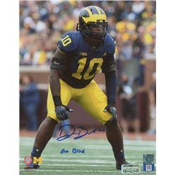 "Devin Bush Signed Michigan Wolverines 8x10 Photo Inscribed ""Go Blue"" (Radtke COA)"