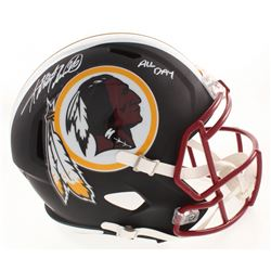 """Adrian Peterson Signed Washington Redskins Full-Size Matte Black Speed Helmet Inscribed """"All Day"""" (B"""