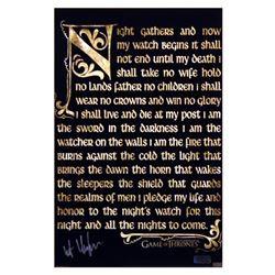 "Kit Harington Signed ""Game of Thrones"" 11x17 Nights Watch Oath Photo (Radtke COA)"