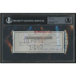 Judy Garland Signed 1951 Personal Bank Check (BGS Encapsulated)