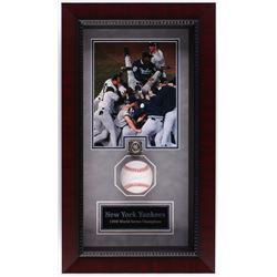 Scott Brosius Signed OML Baseball 13.25x23.25x3.75 Custom Framed Shadowbox Display with Replica Ring