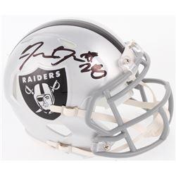 Josh Jacobs Signed Oakland Raiders Speed Mini Helmet (JSA COA)