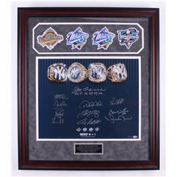 World Series Champions New York Yankees LE 27.5x31.5 Custom Framed Photo Signed by (11) with Joe Tor