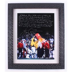 Harry Carson Signed New York Giants 24x28 Custom Framed Photo Display with Exntensive Inscription (S