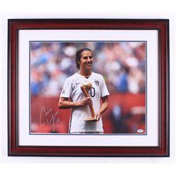 Carli Lloyd Signed Team USA 23x27 Custom Framed Photo Display (PSA COA)