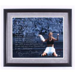 Brandi Chastain Signed Team USA 22.5x26 Custom Framed Photo Display with Extensive Inscription (Stei
