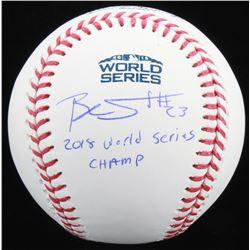 "Blake Swihart Signed Official 2018 World Series Baseball Inscribed ""2018 World Series Champ"" (JSA CO"