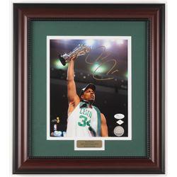 "Paul Pierce Signed Boston Celtics ""NBA Finals"" 14.75x16.5 Custom Framed Photo Display (JSA COA)"
