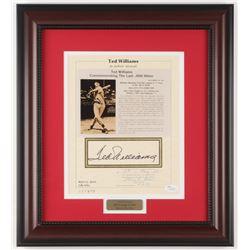 "Ted Williams Signed Boston Red Sox ""Commemorating Batting .406 AVG"" 14.75x16.5 Custom Framed Photo D"