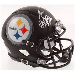 James Washington Signed Pittsburgh Steelers Matte Black Speed Mini-Helmet (JSA COA)