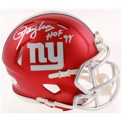 "Lawrence Taylor Signed New York Giants Blaze Speed Mini-Helmet Inscribed ""HOF '99"" (JSA COA)"