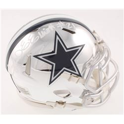 Ezekiel Elliott Signed Dallas Cowboys Chrome Mini Speed Helmet (Beckett COA  Radtke COA)