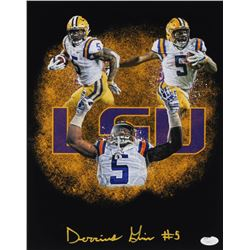 Derrius Guice Signed LSU Tigers 11x14 Photo (JSA COA)
