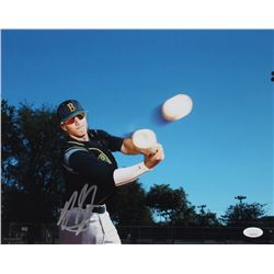 Manny Machado Signed Brito Miami Private School 11x14 Photo (JSA COA)