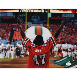 Michael Irvin Signed Miami Hurricanes 11x14 Photo (JSA COA)
