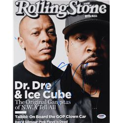 "Ice Cube Signed ""Rolling Stone Magazine Cover"" 11x14 Photo (PSA COA)"