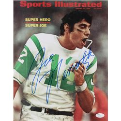 "Joe Namath Signed New York Jets ""Sports Illustrated Magazine Cover"" 11x14 Photo (JSA COA)"