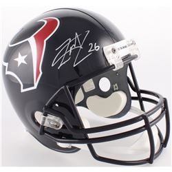 Lamar Miller Signed Houston Texans Full-Size Helmet (JSA COA)