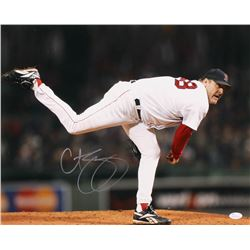 Curt Schilling Signed Boston Red Sox 16x20 Photo (JSA COA)