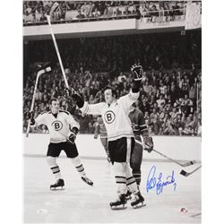 Phil Esposito Signed Boston Bruins 16x20 Photo (JSA COA  Sure Shot Promotions Hologram)