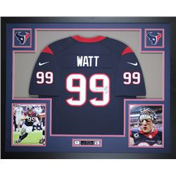 JJ Watt Signed Houston Texans 35x43 Custom Framed Jersey (JSA COA)
