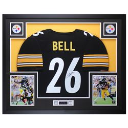 Le'Veon Bell Signed 35x43 Custom Framed Jersey Display (JSA COA)