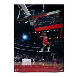 "Michael Jordan Signed Chicago Bulls ""88 Scoreboard"" 30x40 Photo (UDA COA)"