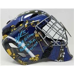 "Jordan Binnington Signed St. Louis Blues LE Full-Size Goalie Mask Inscribed ""2019 SC Champs""  ""Rooki"