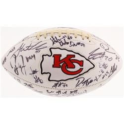 2017 Kansas City Chiefs Logo Football Signed by (44) with Patrick Mahomes, Eric Berry, Travis Kelce,