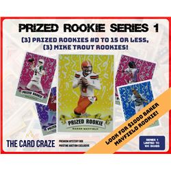 "The Card Craze ""Prized Rookie"" Prismatic Refractor Series 1 Mystery Box"