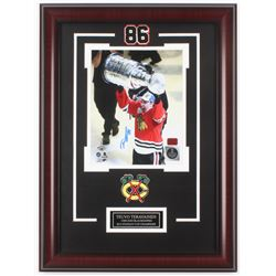 Teuvo Teravainen Signed Chicago Blackhawks 17x23 Custom Framed Photo Display (Your Sports Memorabili