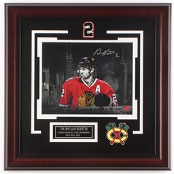 Duncan Keith Signed Chicago Blackhawks 18x18 Custom Framed Photo Display (Your Sports Memorabilia St