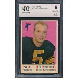 1959 Topps #82 Paul Hornung (BCCG 9)