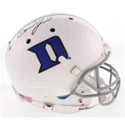 Daniel Jones Signed Duke Blue Devils Full-Size Helmet (Radtke COA)