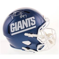 Dexter Lawrence Signed New York Giants Color Rush Full-Size Speed Helmet (Radtke Hologram)