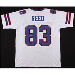 """Andre Reed Signed Jersey Inscribed """"HOF 14"""" (Radtke COA)"""
