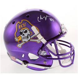 Chris Johnson Signed East Carolina Pirates Full-Size Chrome Helmet (Radtke COA)