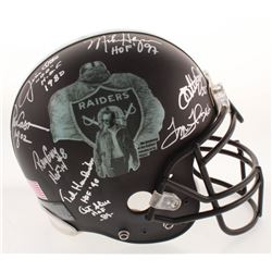 """Oakland Raiders """"Greats"""" Full-Size Authentic Matte Black On-Field Helmet Signed By (21) With Jim Ott"""