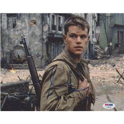 "Matt Damon Signed ""Saving Private Ryan"" 8x10 Photo (PSA COA)"