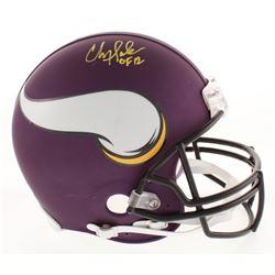 "Chris Doleman Signed Minnesota Vikings Full-Size Authentic On-Field Helmet Inscribed ""HOF 12"" (Radtk"