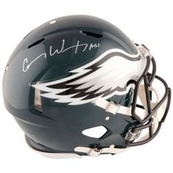"Carson Wentz Signed Philadelphia Eagles Full-Size Authentic On-Field Speed Helmet Inscribed ""AO1"" (F"